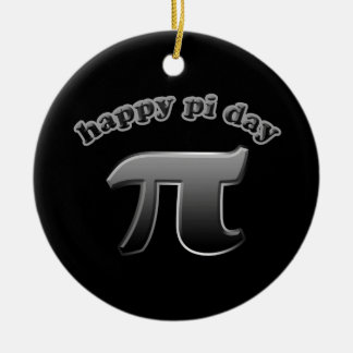 Happy Pi Day | Pi Symbol for Math Nerds March 14 Round Ceramic Decoration