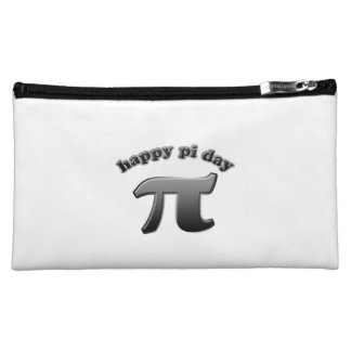 Happy Pi Day Pi Symbol for Math Nerds on March 14 Cosmetics Bags