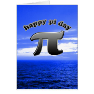 Happy Pi Day Pi Symbol for Math Nerds on March 14 Greeting Card