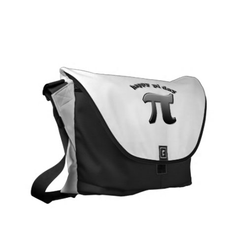 Happy Pi Day Pi Symbol for Math Nerds on March 14 Messenger Bags