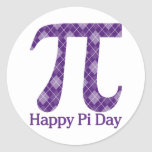 Happy Pi Day Purple Argyle
