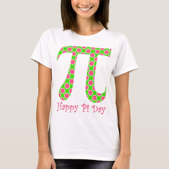 Happy Pi Day Retro Pink and Green T-Shirt