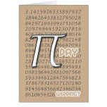 Happy Pi Day Wedding Congraulations 3.14 March 14t Cards