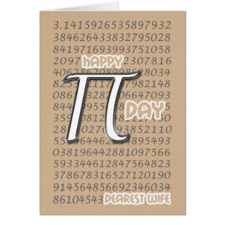 Happy Pi Day Wife 3 14 March 14th Greeting Cards