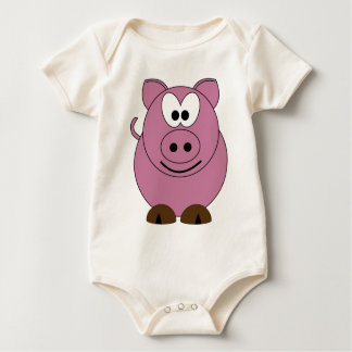 Happy Pig Baby Bodysuit