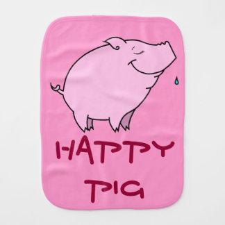 Happy Pig Baby Burp Cloth