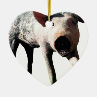 Happy Pig Long Leg Funny Christmas Ornament