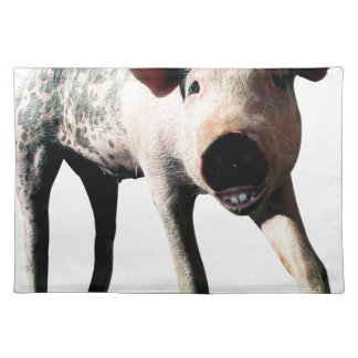 Happy Pig Long Leg Funny Placemat
