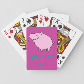 Happy Pig Playing Cards, Standard Index faces Playing Cards