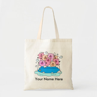 Happy Pigs Customizable Tote Bag