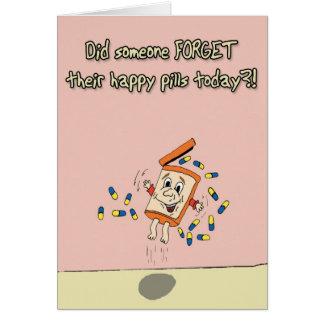 Happy Pills Greeting Card