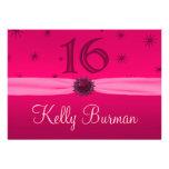 Happy Pink Birthday 16 Invite Announcements