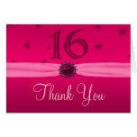 Happy Pink Birthday 16 Thanks Greeting Card