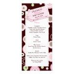 Happy Pink Dots Baby Shower Menu Card Customized Rack Card