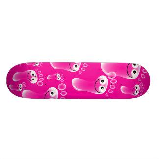 Happy Pink Feet 18.4 Cm Mini Skateboard Deck