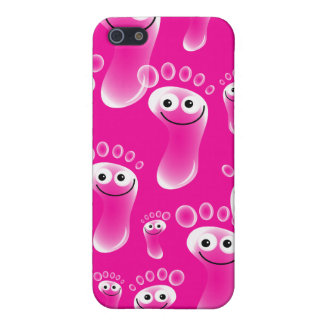 Happy Pink Feet iPhone 5/5S Covers