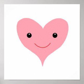 Happy Pink Heart Print