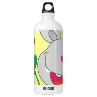 Happy Pink Nosed Bunny Holds Flower SIGG Traveller 1.0L Water Bottle