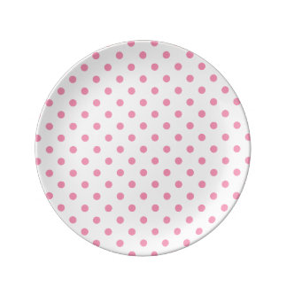 Happy Pink Polka Dot Plate