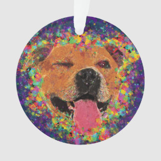Happy Pit Bull Pop Art