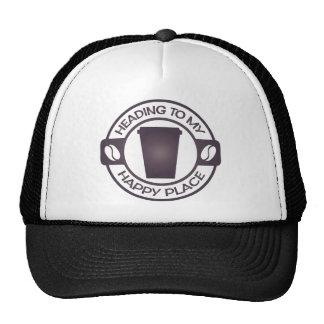 happy place coffee tea starbucks trucker hat