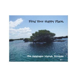 Happy Place Galapagos Tree Ecuador Canvas Print