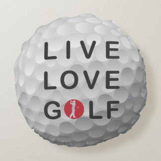 Happy place golf throw pillow