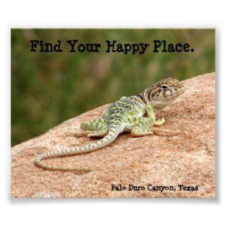 Happy Place Lizard Print Photo Print