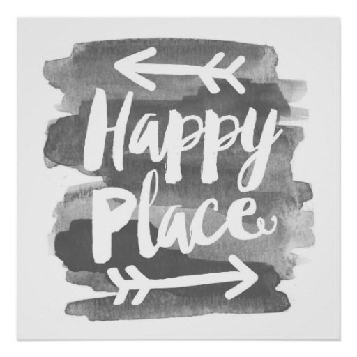 Happy Place - Watercolor Art Print