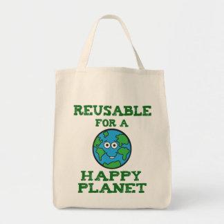 Happy Planet Canvas Tote