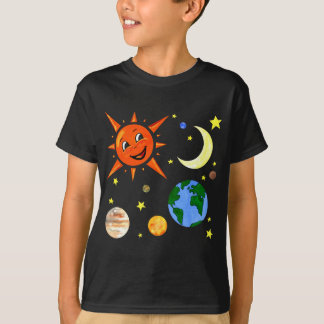 Happy Planets and Space T-Shirt
