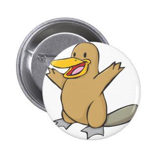 Happy Platypus Cartoon 6 Cm Round Badge