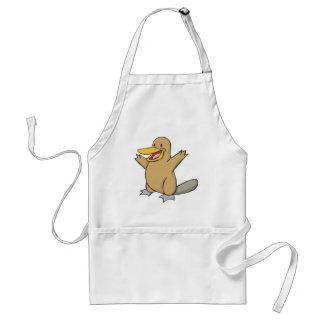Happy Platypus Cartoon Apron