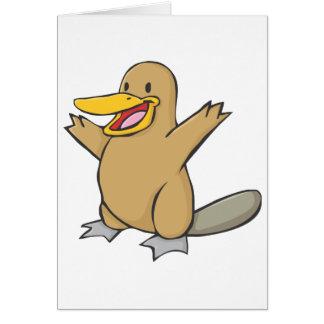 Happy Platypus Cartoon Card