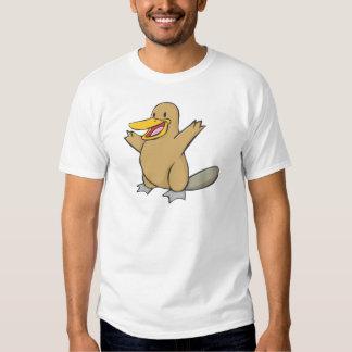 Happy Platypus Cartoon T-shirt