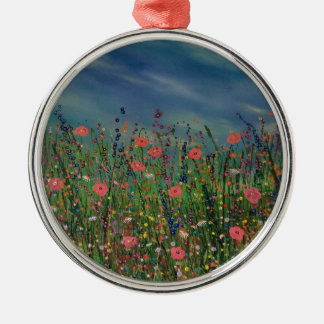 Happy poppies christmas ornament