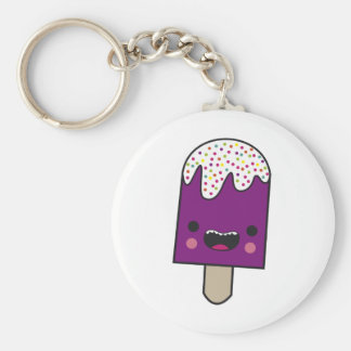 Happy Popsicle Basic Round Button Key Ring