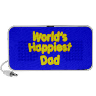 Happy Positive Fathers & Dads  Worlds Happiest Dad iPod Speaker