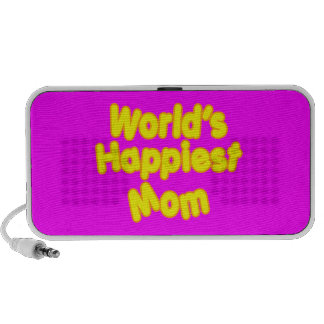 Happy Positive Mothers & Moms  Worlds Happiest Mom Notebook Speakers