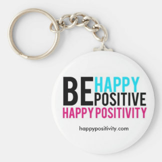 Happy Positivity Keychain