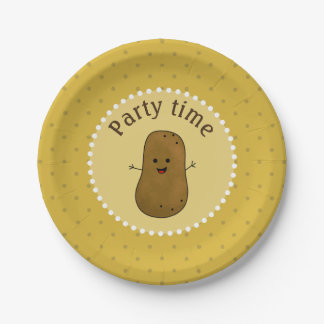 Happy Potato Party Time 7 Inch Paper Plate