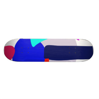 Happy Power Blue and Purple Skate Deck