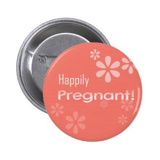 Happy Pregnant! 6 Cm Round Badge