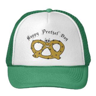 Happy Pretzel Day Gift Trucker Hats