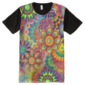 Happy Psychedelic All-Over Shirt All-Over Print T-Shirt