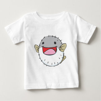 Happy Pufferfish Cartoon Tee Shirt