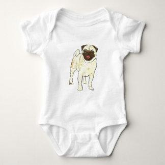 Happy Pug Baby Bodysuit