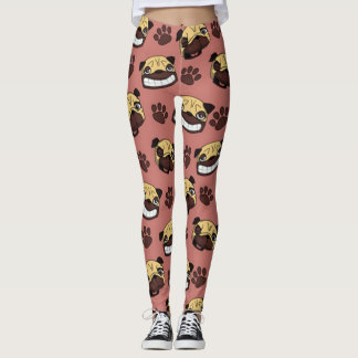 Happy Pug Leggings