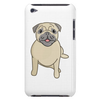 Happy Pug Sitting Down, Digital Illustration iPod Touch Case-Mate Case
