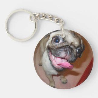 Happy Pugs Keychain